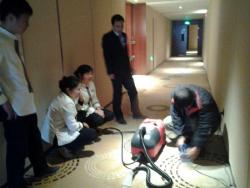 黄冈纽宾凯瓦尔登国际酒店清洁设备培训现场