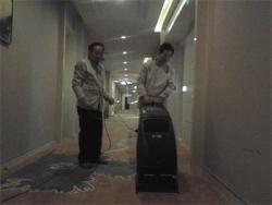 金贵源洲际酒店清洁设备、清洁药水培训现场